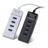 Hub 4 Multi Puertos Usb 3.0 Luz Led Cable 30cm Windows Mac