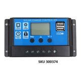 Controlador Regulador Carga Panel Solar 20a 12v/24v Lcd W01