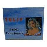 Caja De Condones Preservativos Tulip Por  60 Unidades