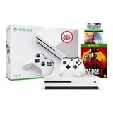 Xbox One S 1tb Red Dead Redemption 2 + Battlefield 1 +1943