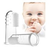 Cepillo Dental Silicona Dedal Bebes Niño Mascotas Suave Dedo