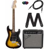 Kit Guitarra Electrica Fender Squier Stratocaster Hss Am 15w