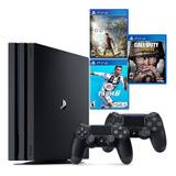 Ps4 Pro 4k, 2 Controles, Fifa, Call Of Duty, Assassins Creed