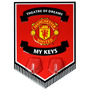 Manchester United Banderín - Key Hanging Ganchos Oficial
