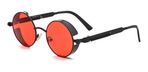 61a6afd2ad Gafas Redondas Lennon Marco Negro Lentes Rojos Rock Ozzy