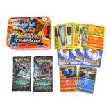 Cartas Pokemon Estuche Metalico X60 Cartas Edicion De Lujo