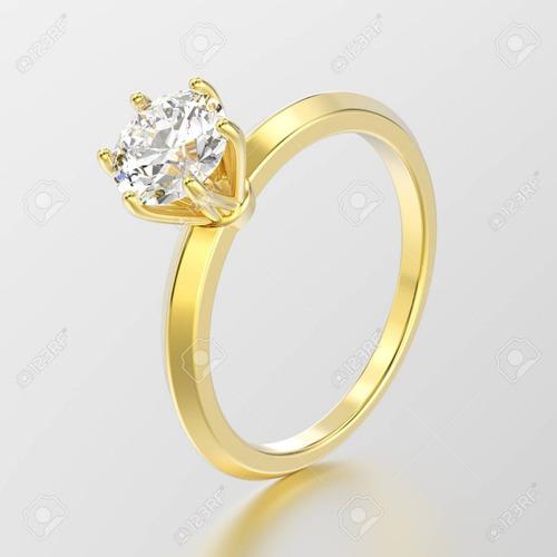 a07776b7b5b1 Anillo De Compromiso Oro 18k Y Diamante Certificado