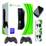 Xbox 360 5.0 +disco Duro 500 G 90j.+ 2 Controles+carga Juega