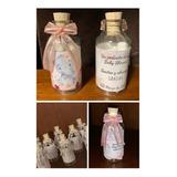 Recordatorios Botella Baby Shower, Bautizo, Primera Comunión