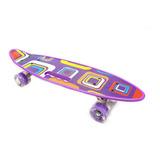 Patineta Tabla Skate Mini Long Estampada Agarre