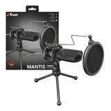 Microfono Trust Gxt 232 Mantis Streaming Usb Garantia 1 Año.