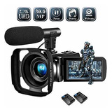 Camara De Video Youtube 2.7k Full Hd 30mp 18x 2 Baterias