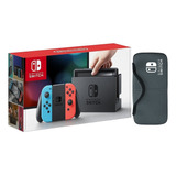 Consola Nintendo Switch Neón Blue And Red + Estuche. Nueva