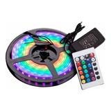 Cinta Led Rgb Multicolor X 5 Metros Con Control Remoto