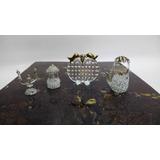 Figura Antigua En Cristal Y Laminilla Italy Precio X C/u