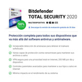 Bitdefender Total Security 2020 Full 5 Dispositivos X 1 Año