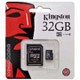 Memoria Microsd Micro + Sd Kingston 32gb + 1 Año De Garantia