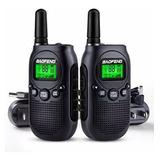 Radio De Comunicacion Baofeng T6 X2 Unidades Negro