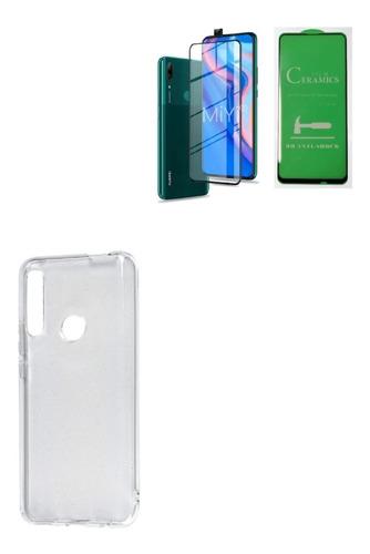 Kit Protector Funda Clean Huawei Y9 Prime 2019 + Irrompible