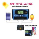 50a/ Mppt Solar Panel Regulator Charge Controller 12v/24v