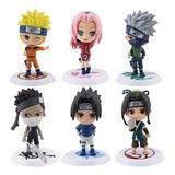 Figuras Naruto Set De Figuras X 6 Anime + Obsequio