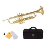 Mendini De Cecilio Mttl Trumpet Gold Bb