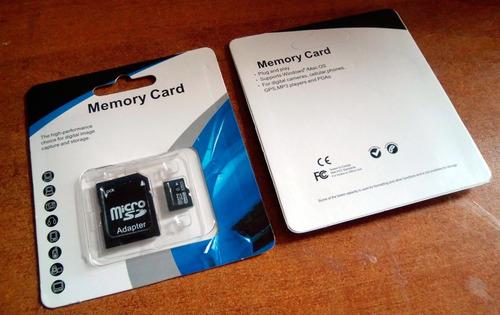 Memoria 128gb Micro Sd Clase 10 + Adaptador