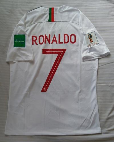 9414f6fbd8 Camiseta Portugal Visitante Mundial 2018 Ronaldo Manga Corta