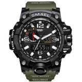 Reloj Deportivo Smael 1545 Doble Hora Multifunciones