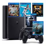 Playstation 4, 2 Controles, Paquete Completo 5 Juegos En Cd