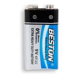 Pila Bateria Cuadrada Beston 9v Carbon Bst-9v-6f22