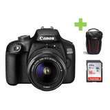 Camara Canon Eos 4000d- Rebel T100+18-55mm+16 Gb+bolso