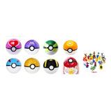 Pokebola Grande Varios Colores +  Pokemon Sorpresa Gratis