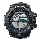 Reloj Digital Para Hombre Deportivo Sumergible 100% Original