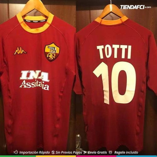 71e53421e1 Camiseta Roma Kappa Totti Retro Nueva Original.   155000