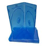 Estuche Plástico Bluray Azul Cd/dvd Doble X 10 Unidades