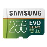 Memoria Samsung Evo Select 256gb Microsd C10 U3 4k 100mb/s