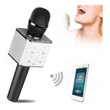 Micrófono Karaoke Q7 - Bluetooth Parlante Portatil + Estuch