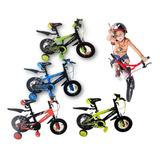 Bicicleta Gw Niño Niña Rin 12 Con Accesorios Mtb Promocion