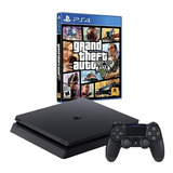 Playstation 4 Slim 1tb + Gta V