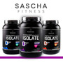 Proteina Sascha Fitness - Chocolate Vainilla, Fresa, M.mani