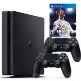 Playstation 4 Slim Fifa 18 2 Controles Envío Gratis