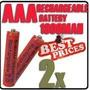 2 Pilas Baterias Recargables Aaa 1800mah 1.2v