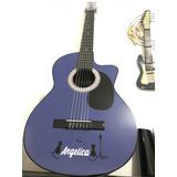 Guitarras Acusticas+forro+correa Con Pines+personalizada,