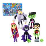 Set X 5 Figuras Jovenes Titanes Juguete Teens Titans