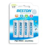 Pila Bateria Recargable Aa X4 2300mah Beston