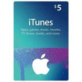 Tarjeta Itunes Apps Store 5 Usd Entrega Inmediata