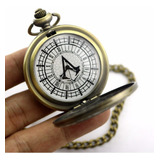 Reloj De Bolsillo Assasin Creed Pocket Watsh Con Cadena