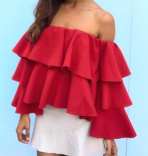 Blusas para mujer Limonni LI576 Campesinas