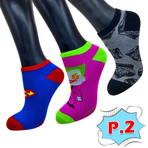 Medias Tobilleras Super Héroes X3 Unidades Calcetines Adulto